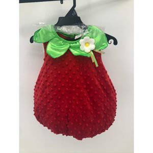NWT Authentic Kids Strawberry Baby Girl Costume Re